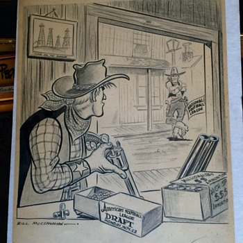 Sports Editorial Original Art work from Bill MCCLANAHAN 1959 AFL Draft