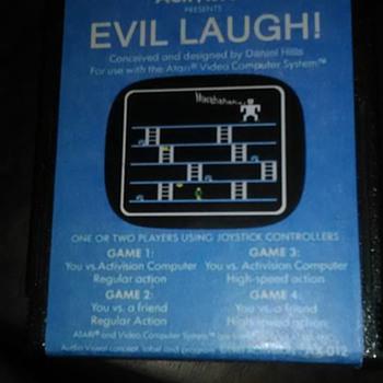 Atari EVIL LAUGH Cartridge 1981 Activision Daniel Hills MYSTERY?