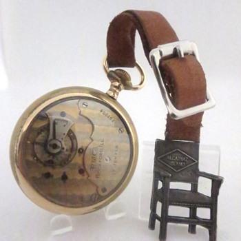 Alcatraz Electric Chair Pocket Watch Fob