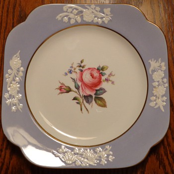 Spode Copelands China England Maritime Rose Cookie Plate and Small Cups and Saucers - China and Dinnerware