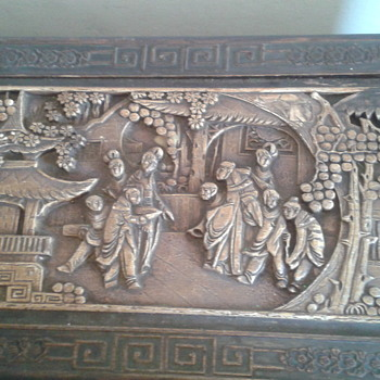 late 1800s antique hand carved top chests with two bottom drawers
