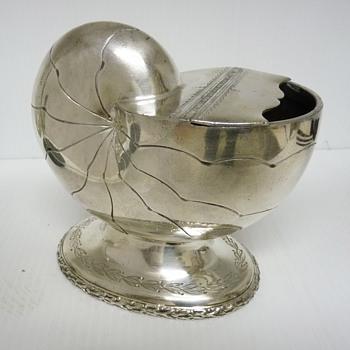 Vintage Silver Metal Shell Shaped Sugar Bowl - Kitchen