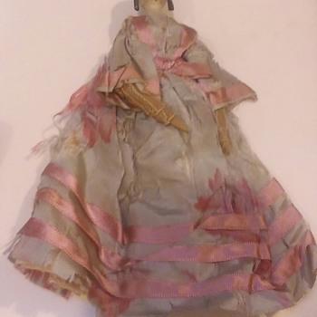 Antique Wooden Peg Doll - Dolls