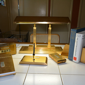 Smith Metal Arts Mooncrest/Silvercrest Desk set
