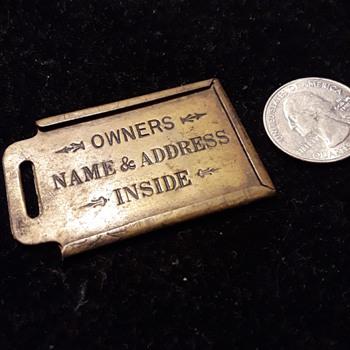 old trunk owner's name holder tag  - Furniture