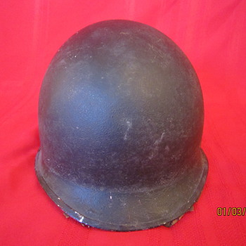 Rare USA WWII WW2 Fixed Bales Steel Pot United Carr Helmet w/Hawley Fiber Liner - Military and Wartime
