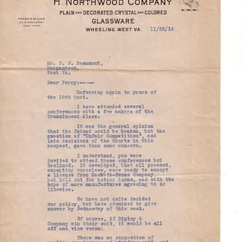 Northwood Signed Letter