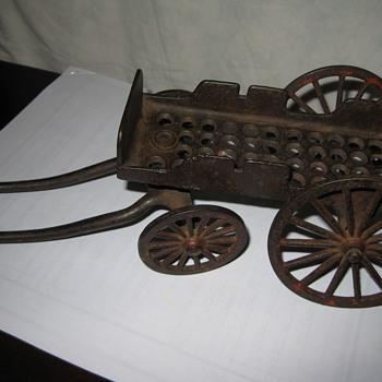 Cast Iron Horse Cart