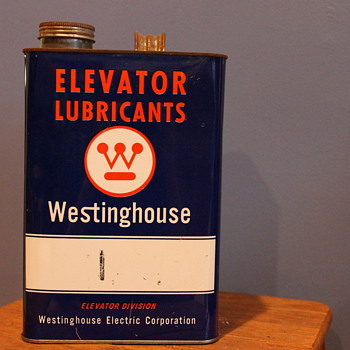 Incredibly Unusual Westinghouse Elevator Lubricants Can - Petroliana