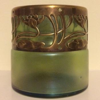 Art Nouveau lily rim - interesting shape - Art Glass