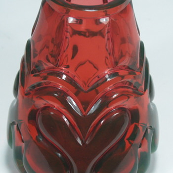 Unknown Magical color changing red yellow green glass vase uranium vasaline  - Art Glass