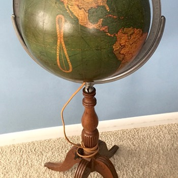 """12"""" Glass Lighted Library Globe..."""