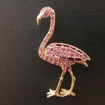 Pell flamingo brooch  - Costume Jewelry