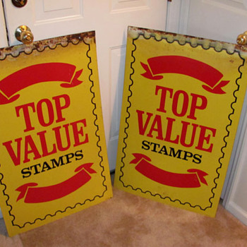 Top Value Stamps - Signs