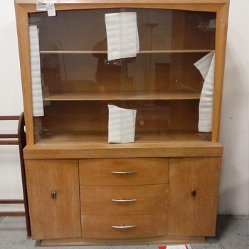 """Heywood Wakefield"" Style Birch China Cabinet/Circa 1950's-60's - Furniture"