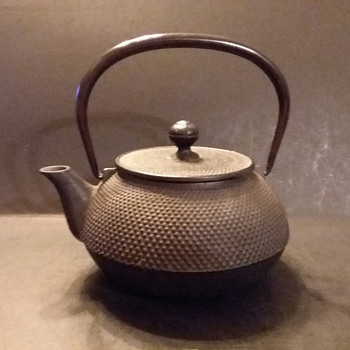 Iwachu Hobnail cast iron teapot (kyusu) - Asian