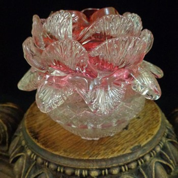 Clarke's Floriform Art Glass Fairy Lamp  - Lamps