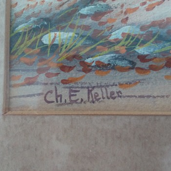 Unknown Artist Early 1900's Signs Ch. E. Keller - Fine Art