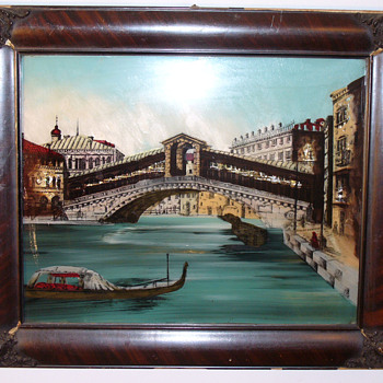 Venice Reverse Painting, Print and foil..... - Posters and Prints