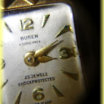 Old ladies Watch -- BUREN GRAND PRIX - 25 Jewels - Swiss Made