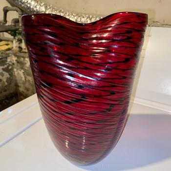 Interesting Estate Vase Need Help with Maker - Art Glass