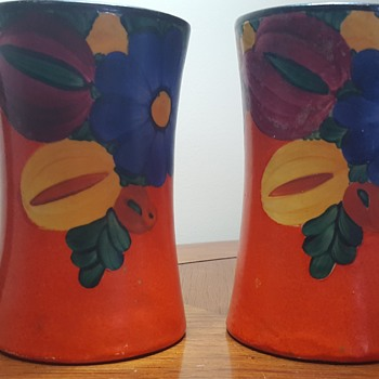 Pair of Hand Painted Mugs - Pottery