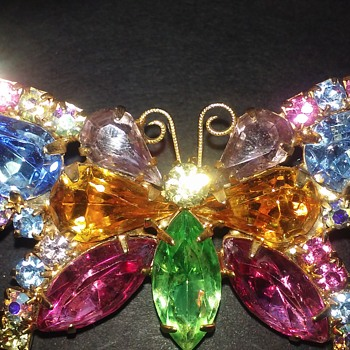Multi color butterfly pin - Costume Jewelry