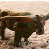 """Antique Metal Toy Steer ~ 2 3/4"""""""