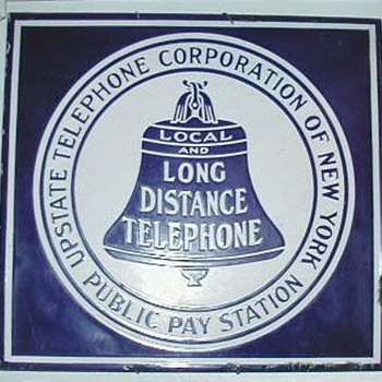 Upstate Telephone Corporation of New York Pay Station Sign