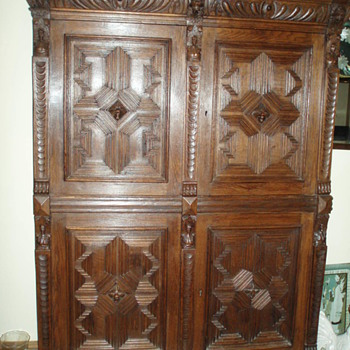 Carved Oak Cupboard - Furniture