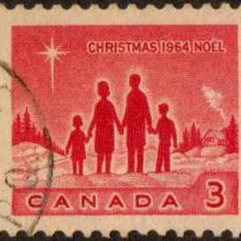 "1964 - Canada ""Christmas"" Postage Stamps - Stamps"