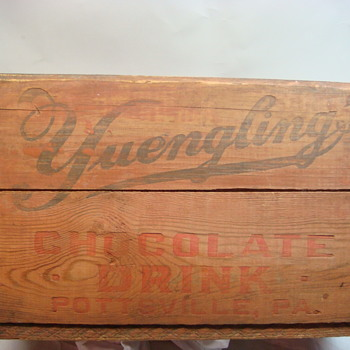 """Yuengling Dairy  """"Chocolate Drink"""" Wooden Crate - Breweriana"""