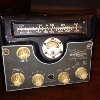 Vintage bendix aircraft radio
