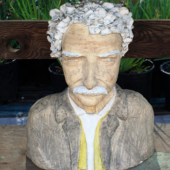 SMIKESELL?? - Pottery Busts of Schweitzer and Einstein? - Pottery