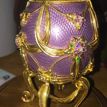 House of Faberge Franklin Mint Sterling Egg - Silver
