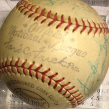 1958 -Ford C. Frick White Rose  official minor league Team Signed Baseball