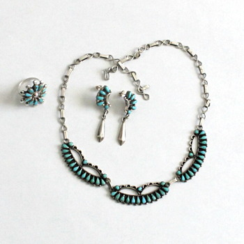 Native American Zuni Turquoise and Sterling Jewlery - Fine Jewelry