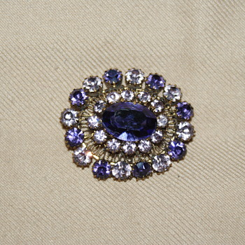 "Costume Brooch Marked ""Austria"" - Costume Jewelry"