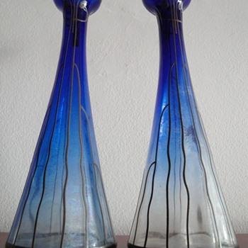 My art nouveau glass vase pair - Art Nouveau