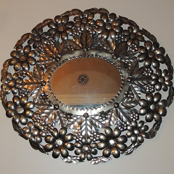 "Decorative Mirror Marked ""Ser-Mel Hecho En Mexico"""