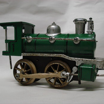 Karl Bub Nuremberg tinplate clockwork locomotive - Model Trains