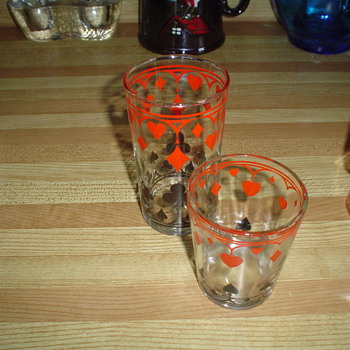 Poker style glasses / jar - Glassware