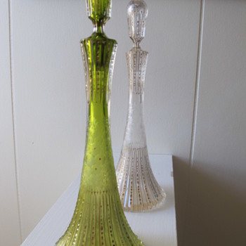 Amphora? Decanter? perfume? cut glass - Art Glass