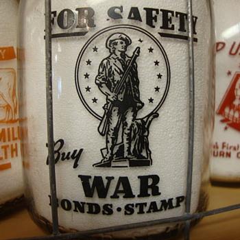 RUBINS DAIRY...SHELBYVILLE ILLINOIS...WAR SLOGAN MILK BOTTLE - Bottles