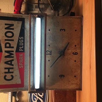 Champion Spark Plug sign/clock - Advertising