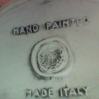 hand painted italian wine bottles
