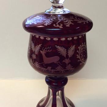 bohemian glass dish? - Art Glass