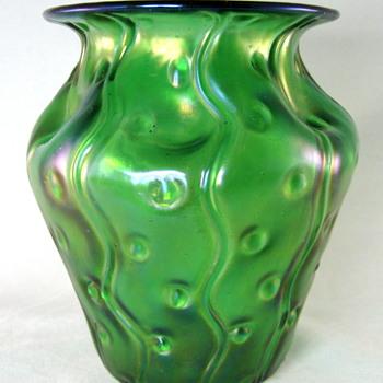 "Loetz Creta ""Zig Zag and spots"" decor. - Art Glass"