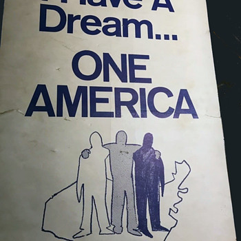 Original 1960's Placard / Protest Sign Used In Washington DC Civil Rights March - Politics