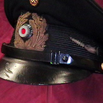 WW II Kriegsmarine NCO Visor Cap U 106